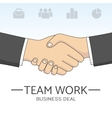 handshake sketch vector image