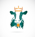 image of cow wearing a crown