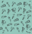 instruments icons pattern vector image vector image