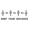 keep your distance when you meet safety when vector image vector image
