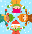 Kids Celebrating Snow vector image vector image