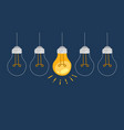 light bulb symbol innovation and good ideas vector image