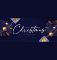 merry christmas design template with fir tree vector image