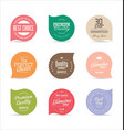 modern badges and labels collection 5 vector image vector image