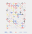 Neomodern poster design layout with abstract