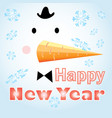 new years card with a snowman vector image vector image