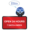 Open twenty four hour retail sign vector image vector image