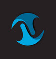 orbit logo design template vector image vector image