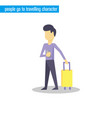 people go to travelling character vector image vector image