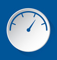 pressure gauge simple blue icon on white button vector image