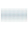 radio bug shape halftone pattern vector image