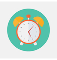 Red and yellow alarm clock flat icon vector image vector image