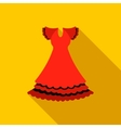 Red dress icon flat style vector image vector image