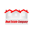 red house real estate icon vector image