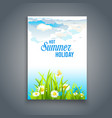 relax nature template vector image