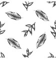 seamless pattern with black and white heliconia vector image vector image