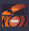 set abstract banners creative brochure cover vector image vector image