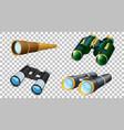 set different binoculars isolated vector image
