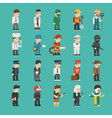 set profession characters eps10 format vector image vector image