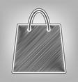 shopping bag pencil sketch vector image vector image
