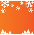 Snowflakes background Christmas and New year vector image