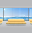 sofa in the hall vector image