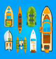 speed motor boat sea ship yacht and other marine vector image vector image