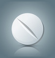 tablet pill pharmacology icon vector image
