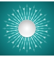 template paper round fram vector image vector image