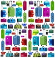 Travel bags Luggage suitcase vector image vector image