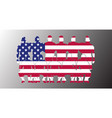 usa soccer team flag design russia wallpaper sport vector image