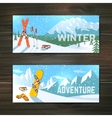 Winter sport tourism banners set vector image