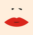 womens lips and nose salon logo icon vector image vector image
