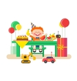 Holiday child birthday vector image