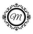 Stylish design Decorated icon Black and white vector image