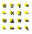 16 plane icons vector image vector image