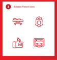 4 patient icons vector image vector image