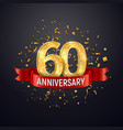 60 years anniversary logo template on dark vector image vector image