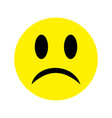 a little sad face emoticons with a slight frown vector image