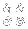 Ampersand collection vector image vector image