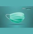 antiviral medical respiratory face mask protection vector image