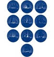 Badges with sailing ships vector image vector image