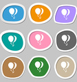 Balloon Icon symbols Multicolored paper stickers vector image
