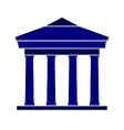Bank symbol icon on white vector image vector image