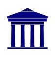 Bank symbol icon on white