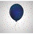 blue balloon confetti white background vector image