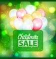 bokeh pattern christmas sale text air balloons vector image vector image