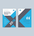 brochure cover design in blue color - abstract vector image vector image