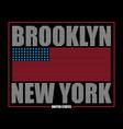 brooklyn ny flag t-shirt vector image vector image