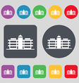 Business center icon sign A set of 12 colored vector image vector image
